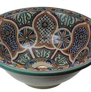 Azamat vasque au style oriental - Vasque bleu turquoise ...