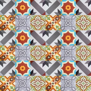 Carreaux de ciment premium Patchwork