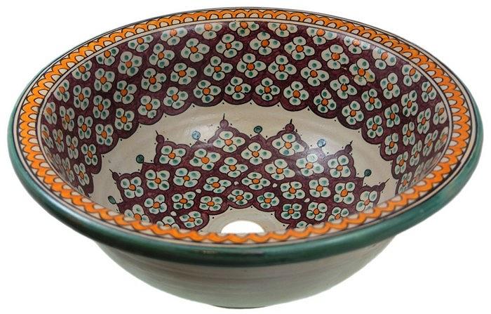 Borat vasque au style oriental - Vasque bleu turquoise ...